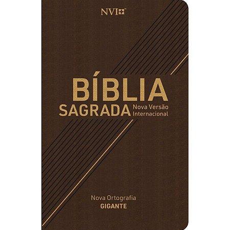 Bíblia Sagrada NVI Gigante Capa Luxo Marrom