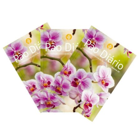Pão Diário 2021 Volume 24 Caixa Com 50 Unidades Capa Flores