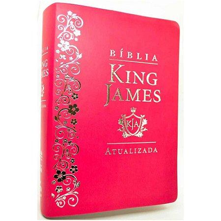 Bíblia Sagrada King James Atualizada Letra Grande Luxo Pink