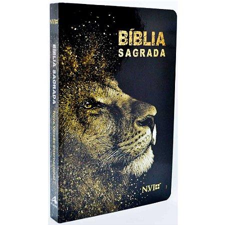 Bíblia Sagrada NVI Média Capa Dura Leão Dourado