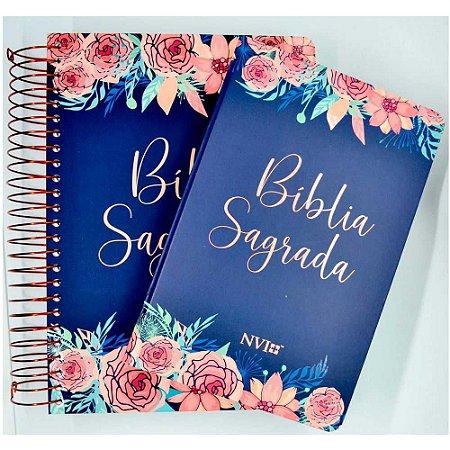 Kit Bíblia Anote Espiral + Bíblia NVI Capa Especial Rosas