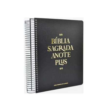 Bíblia Sagrada Anote Plus ARC Letra Grande Espiral Capa Dura Preta