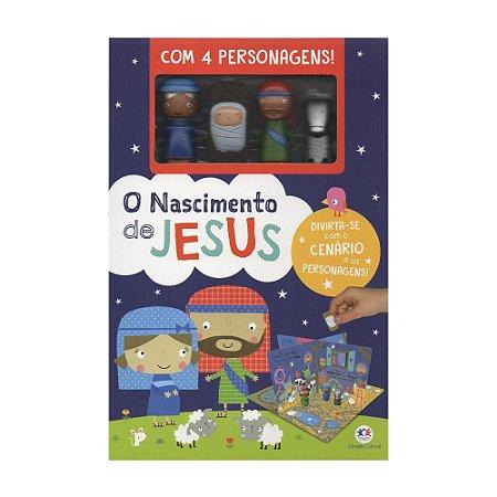 O Nascimento de Jesus - Box Com 4 Personagens - Coleção Cenário Animado