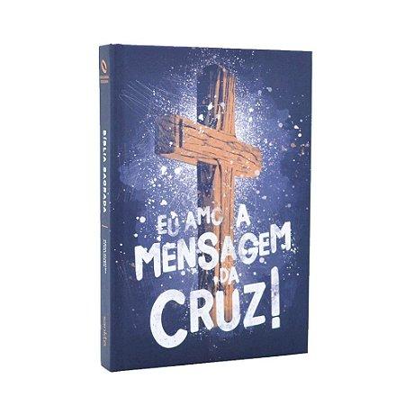 Bíblia Sagrada NAA Média Capa Soft Touch Mensagem Da Cruz