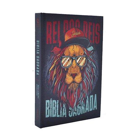 Bíblia Sagrada NAA Média Capa Soft Touch Leão Hip Hop