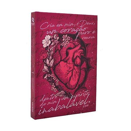Bíblia Sagrada NAA Média Capa Soft Touch Coração Puro