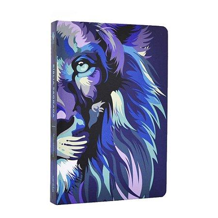 Bíblia Sagrada NVT Média Capa Soft Touch Lion Colors Cool