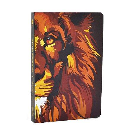 Bíblia Sagrada NVT Média Capa Soft Touch Lion Colors Fire