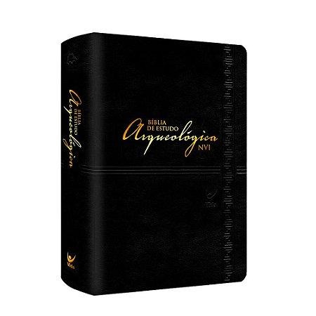 BÍBLIA DE ESTUDO ARQUEOLÓGICA NVI - LUXO PRETA