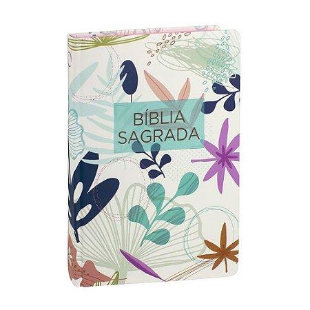 Bíblia Sagrada RA Média Capa Dura Flores SBB