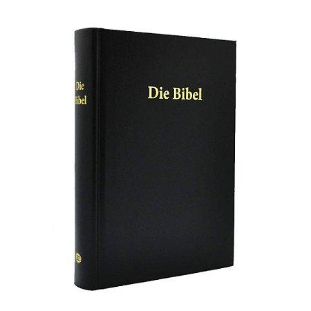 Die Bibel - Bíblia Em Alemão - Média Capa Dura Preta