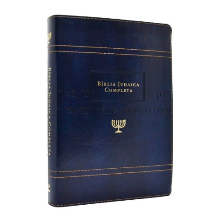 Bíblia Judaica Completa Média Luxo Azul