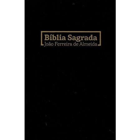 Bíblia Sagrada João Ferreira De Almeida RC Média Brochura Preta