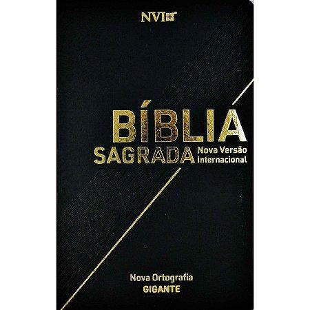 Bíblia Sagrada Letra Gigante NVI Média Semi Luxo Preta