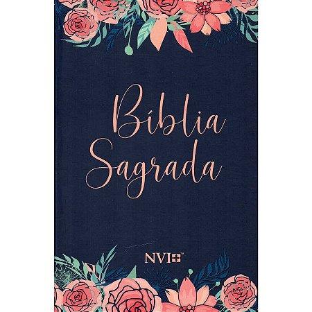 Bíblia Sagrada NVI Média Capa Dura Especial Rosas