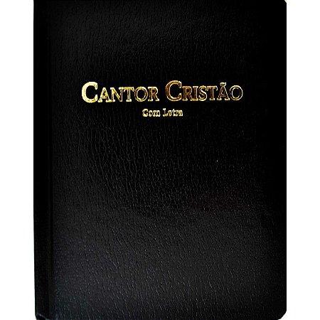 Cantor Cristão Pequeno Com Letra Capa Flexível Preto