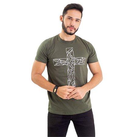 Camiseta - Cruz prata