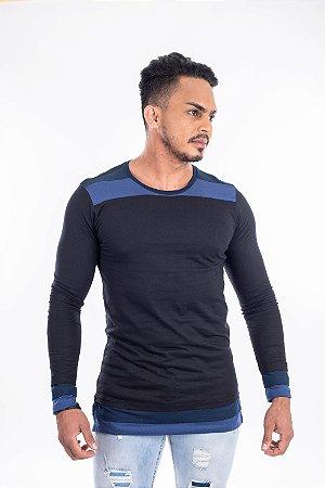 Camiseta long fit manga comprida