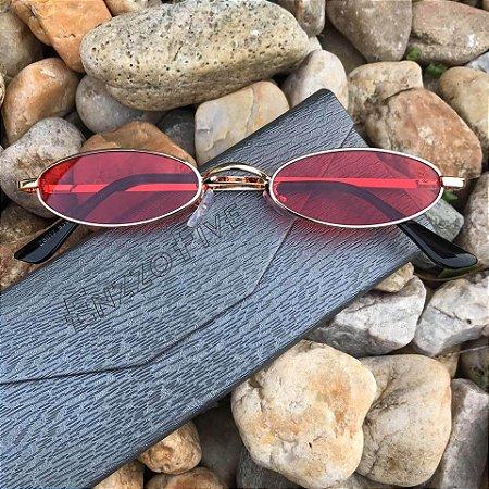 Óculos Enzzo Five Vintage Vermelho