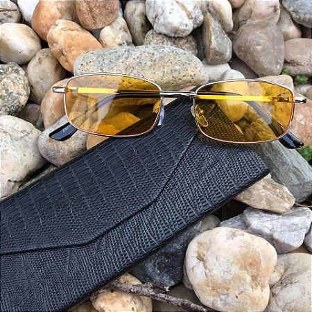 Óculos Enzzo Five Retro Amarelo