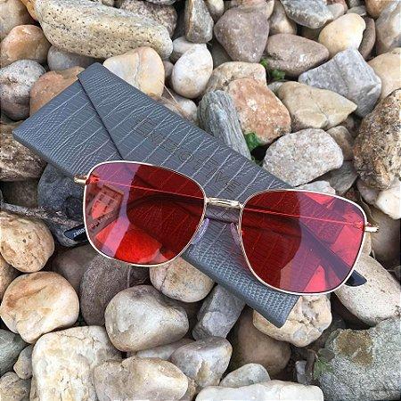 Óculos Enzzo Five Red Detroit