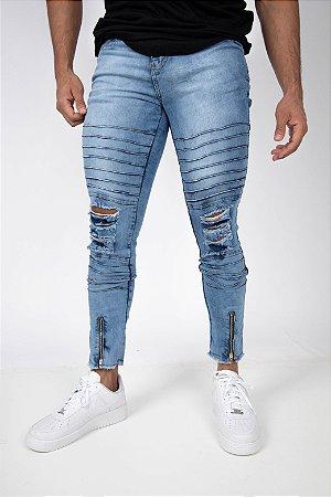 Calça Jeans destroyed viez men