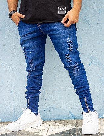 Calça jeans destroyed EXCLUSIVO VIEZ