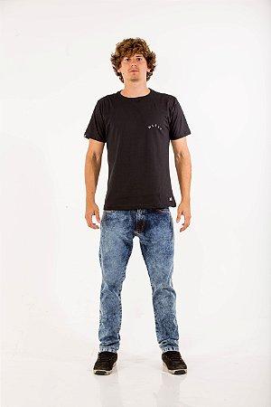Calça jeans marmorizado