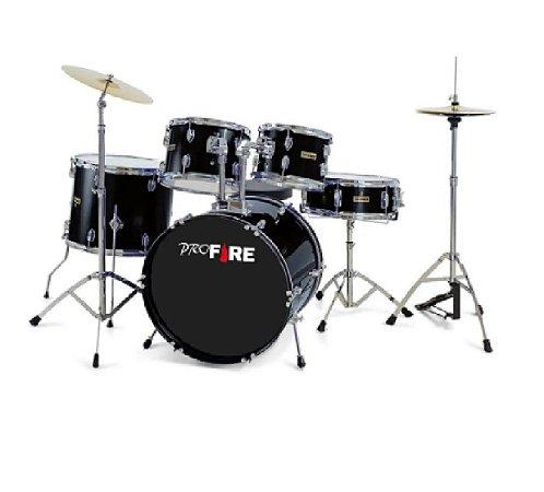 """Bateria Acústica Pro Fire  Bumbo 20"""" Preta"""