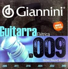 Encordoamento Giannini Guitarra 0.9