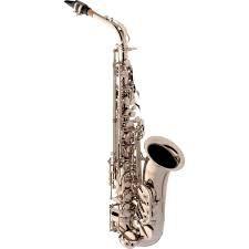 Saxofone Alto Eagle SA500 em Mib Niquelado