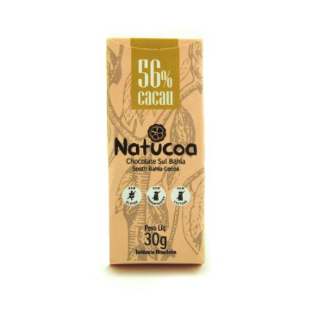 CHOCOLATE BARRA 56% 30g - NATUCOA