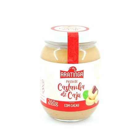 Pasta de Castanha de Caju Com Cacau 260 g – Aratinga