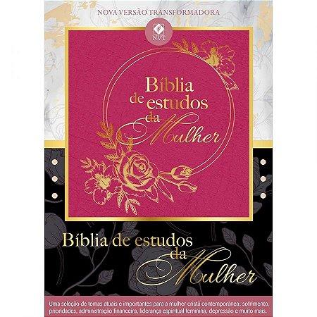 BÍBLIA DE ESTUDOS DA MULHER - ROSA