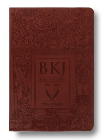 BIBLIA KING JAMES FIEL 1611 - MARRON - Letra Ultra Gigante