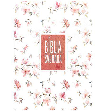 BÍBLIA SAGRADA - FLORAL BRANCA