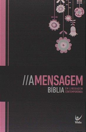 BÍBLIA A MENSAGEM - PRETA, FLORIDA, FEMININA