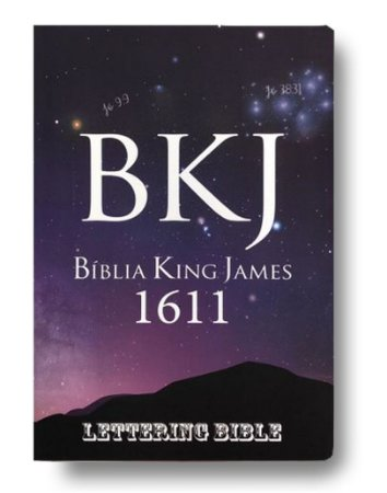 Bíblia King James 1611 Ultra fina Lettering - Universo
