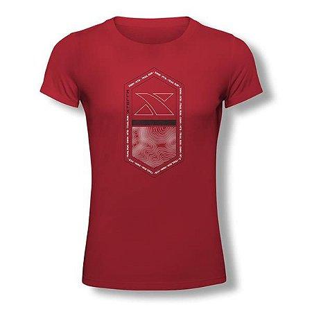 Camiseta Feminina Xterra Pill Vermelha