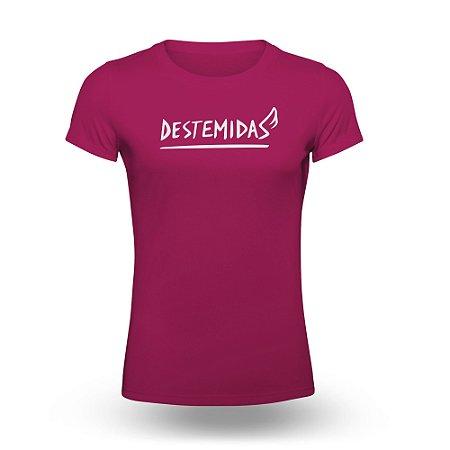 VR Destemidas Mulheres Camiseta Feminina Lilás