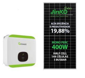 GERADOR GROWATT SOLO 7,2Kwp