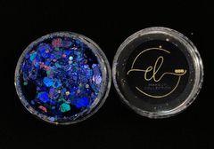 Coleção Brilhe Glitter Blue Star