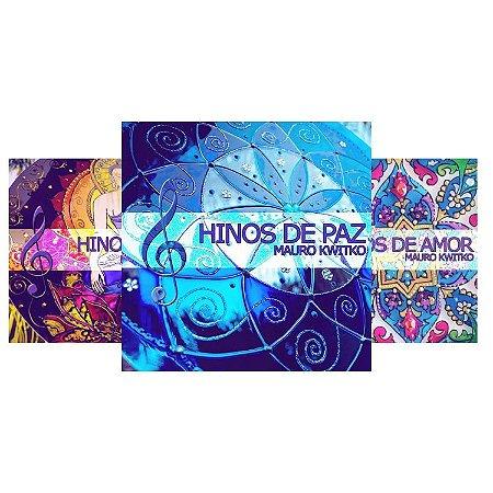 Conjunto de três CD's: Hinos de Amor, Hinos de Paz e Hinos de Fé - Físico e  Download