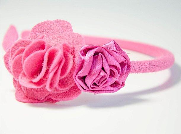 Tiara Pink com Aplique