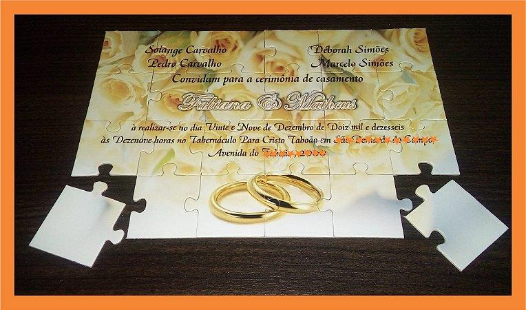 a3be995cff2 convite de casamento imã quebra-cabeça - CMS Brindes - Lembrancinhas ...