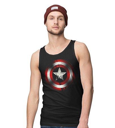Camiseta Regata Capitão America - Camisetas criativas de séries e ... 01aa2d4999b