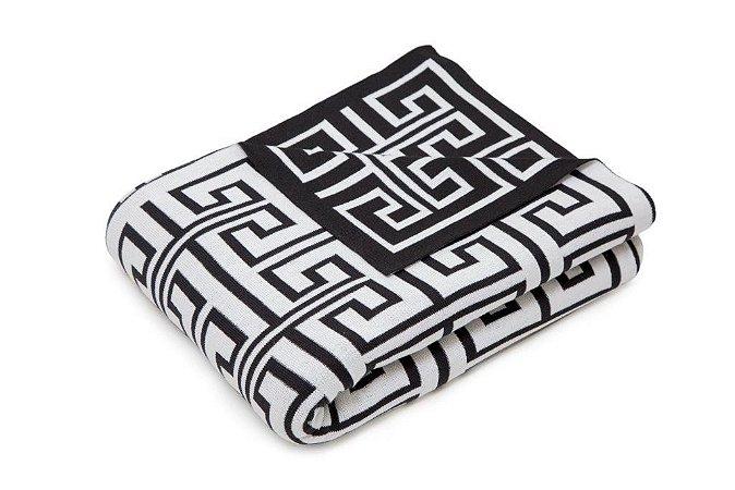 Manta Labirinto Preto e Branco