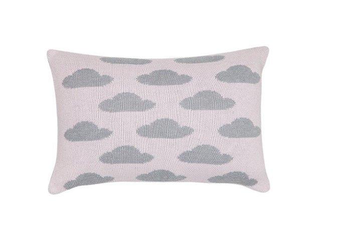 Almofada Baby Nuvens Cinza e Rosa