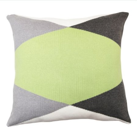 Almofada Losango Verde e Cinza