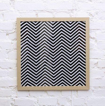 Quadro Zigzag Preto e Branco